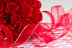 Roses and Ribbon Royalty Free Stock Photo