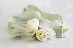 Roses with ribbon Royalty Free Stock Photography