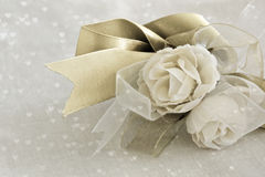 Roses with ribbons Royalty Free Stock Images