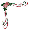Roses, Ribbons Wedding Invitation Stock Photos