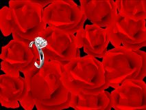 Roses and ring Royalty Free Stock Photography