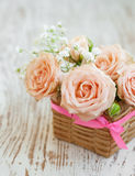 Roses rose-clair Photographie stock