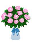 Roses roses avec la proue Illustration Stock
