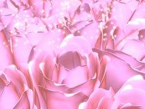 Roses roses, la poussière féerique Photo libre de droits