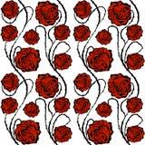 Roses rouges Configuration sans joint de vecteur Images libres de droits