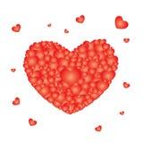 Roses rouges de modèle de fond dans Valentine Image stock