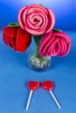 Roses rouges de tissu Photographie stock libre de droits