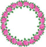 Roses round frame Royalty Free Stock Image