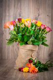 Roses in the sack Stock Photography