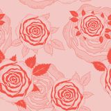 Roses seamless. Stock Photo
