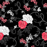 Roses Seamless Background Stock Image