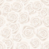 Roses seamless background. White roses flower seamless background Royalty Free Stock Photo