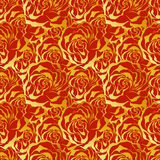 Roses. Seamless colorful vector pattern. Royalty Free Stock Photos