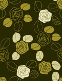 Roses - seamless pattern Royalty Free Stock Image