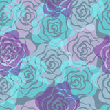 Roses Seamless Pattern. Vector illustration Stock Photography