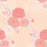 Roses seamless pattern Royalty Free Stock Photos
