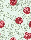 Roses - seamless pattern. Floral seamless pattern with styled roses Royalty Free Stock Images