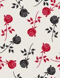 Roses - seamless pattern. Floral seamless pattern with styled roses Royalty Free Stock Photography