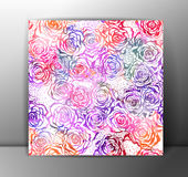 Roses seamless pattern, colorful. Vector, EPS 10. Roses seamless pattern, beautiful and colorful. Romantic vector illustration, EPS 10 Stock Images