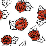 Roses seamless pattern Stock Image