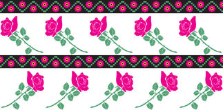 Roses. Seamless pattern with roses in estern-european style Royalty Free Stock Images
