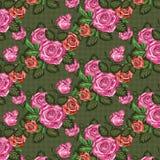 Roses seamless pattern, floral background. High resolution illustration stock illustration