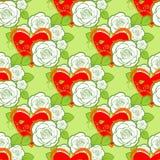 Roses seamless pattern Royalty Free Stock Photos