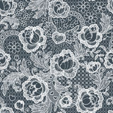 Roses Seamless Pattern. Lace. Royalty Free Stock Image