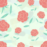 Roses seamless pattern Stock Photos