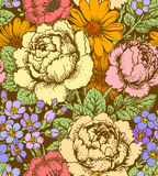 Roses Seamless Pattern. Royalty Free Stock Image