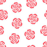 Roses Seamless Pattern. Seamless pattern with pink roses on white Stock Photography