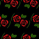 Roses seamless pattern royalty free illustration