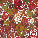 Roses seamless texture Royalty Free Stock Photo
