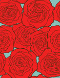 Roses. Seamless vector background. Stock Photo
