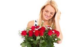 Roses from secret admirer Stock Photo
