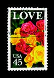 Roses, serie de question d'amour, vers 1988 Photos stock
