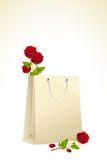 Roses in Shopping Bag Royalty Free Stock Photo