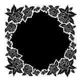 Roses silhouettes frame vector Royalty Free Stock Photography