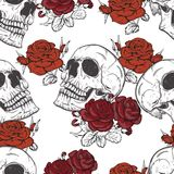Roses and skulls Stock Photo