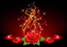 Roses, smoke and stars Royalty Free Stock Photos