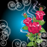 Roses, smoke and stars Stock Photography