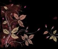 Roses sur le noir illustration de vecteur