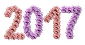 2017 roses sur un blanc ont isolé le fond avec le chemin de coupure Composition de fleur Roses roses et pourpres Image stock