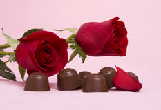 Roses and Sweets Stock Images