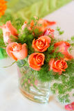 Roses on the table Royalty Free Stock Photography