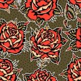 Roses Tattoo Pattern stock photo