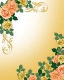 Roses Template Wedding Invitation Peach Royalty Free Stock Image