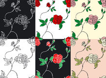 Roses texture. Vector illustration of roses texture Royalty Free Stock Photography
