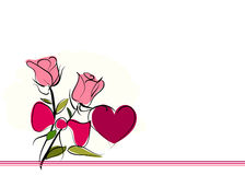 Roses valentine day vector background Stock Photos