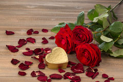 Roses for valentine's day and mother's day Royalty Free Stock Images